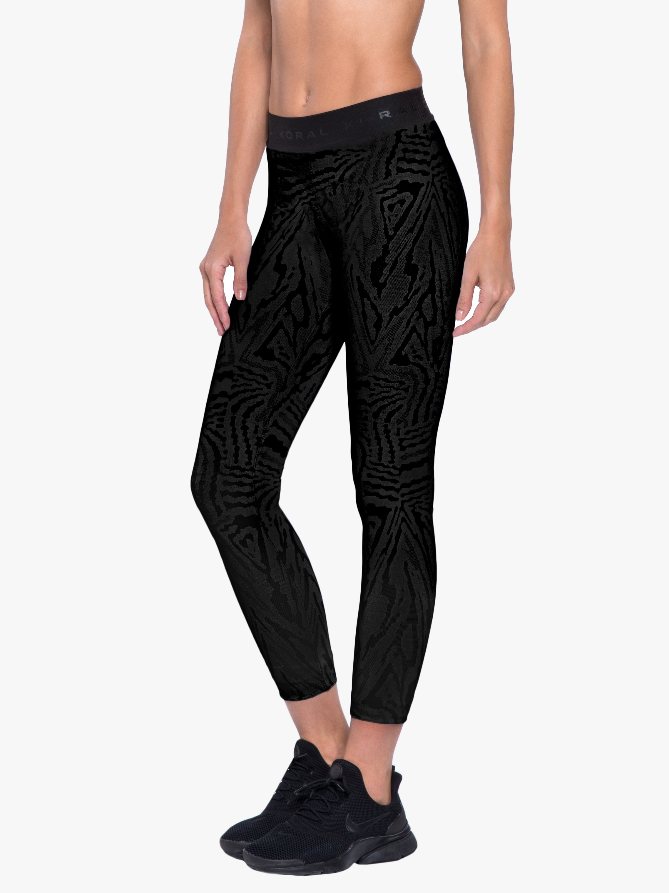 Knockout Jacquard Legging - Black Galaxy