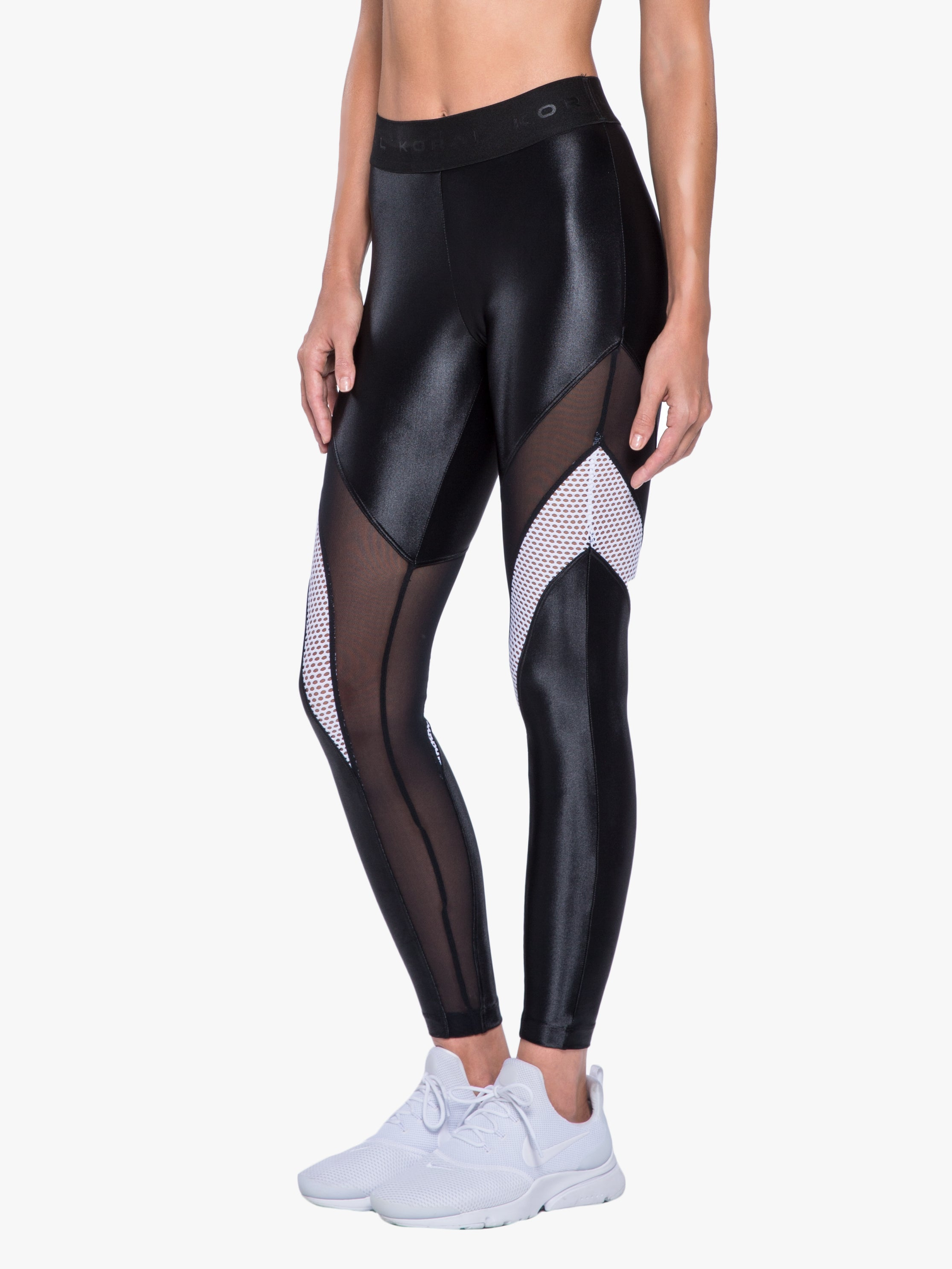Frame High Rise Legging - Black/White
