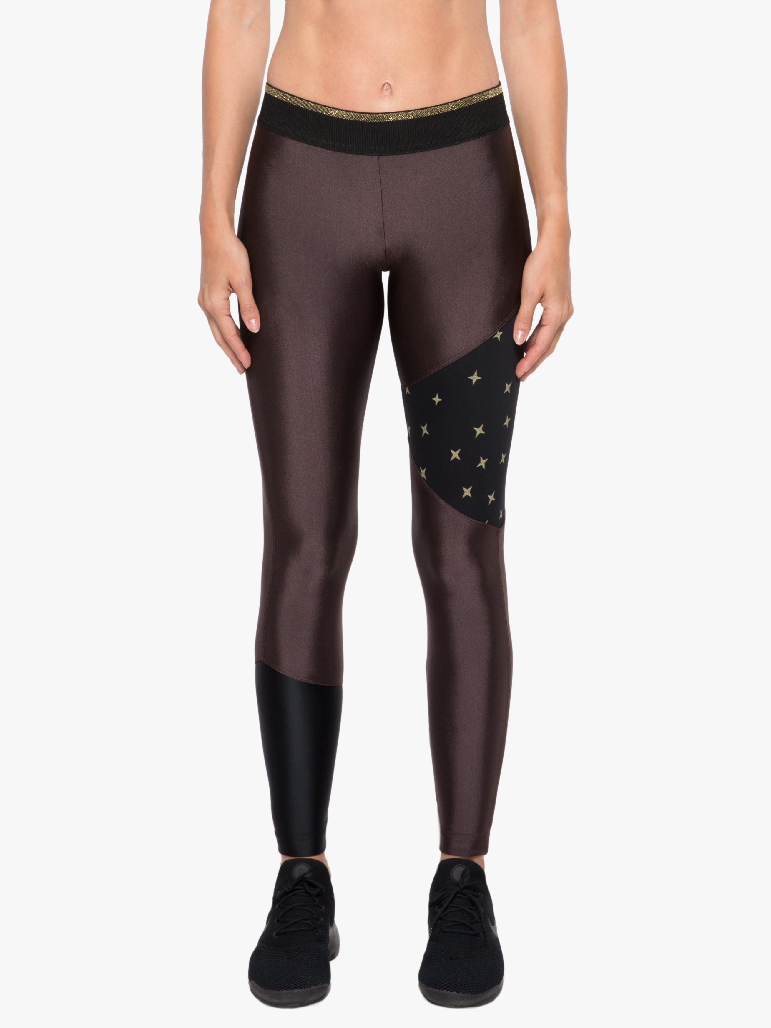 Amber Mid-Rise Sprint Legging - Ametrine/Constellation Black