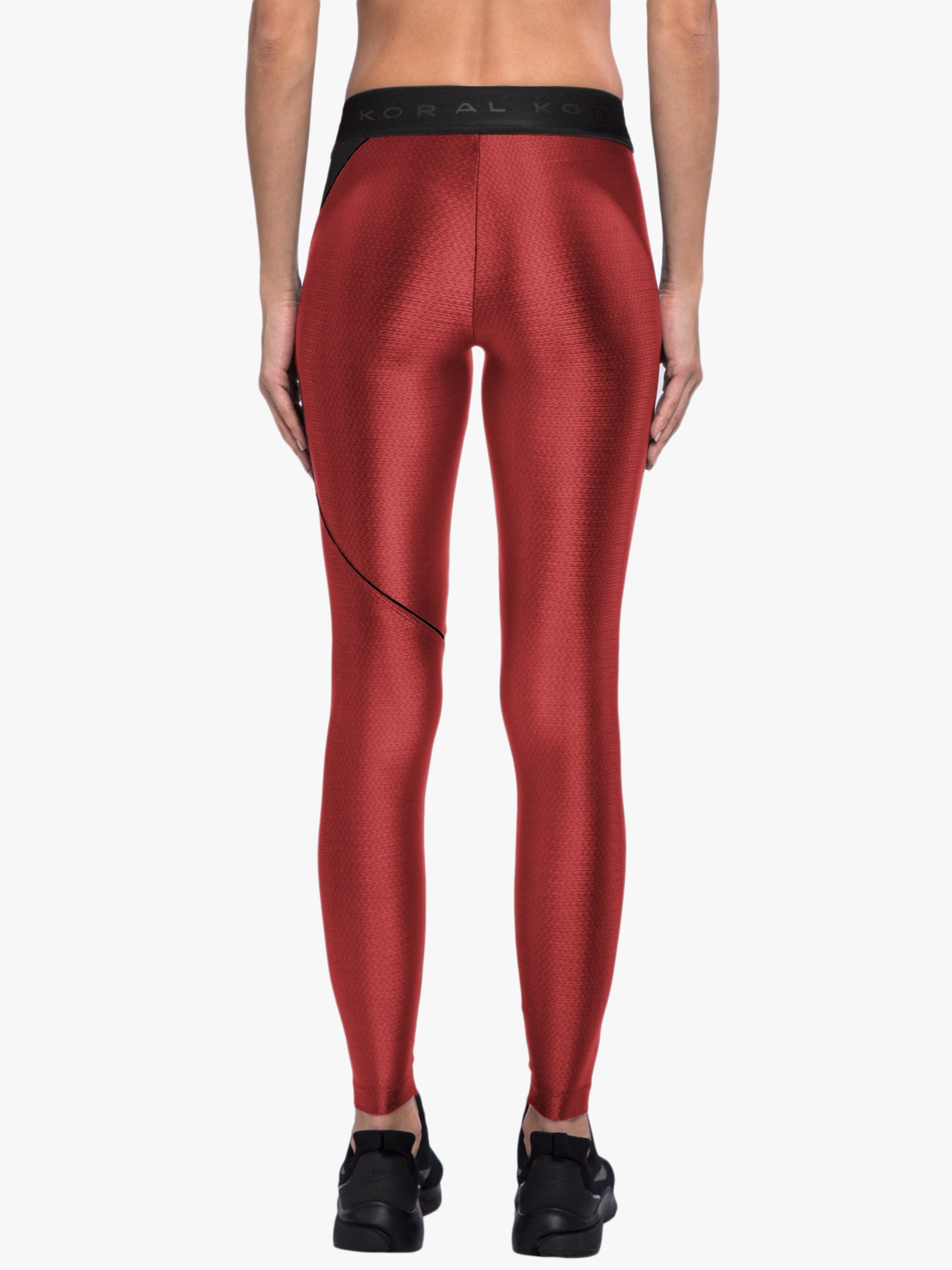 Attack Charge Legging - Scarlet/Black