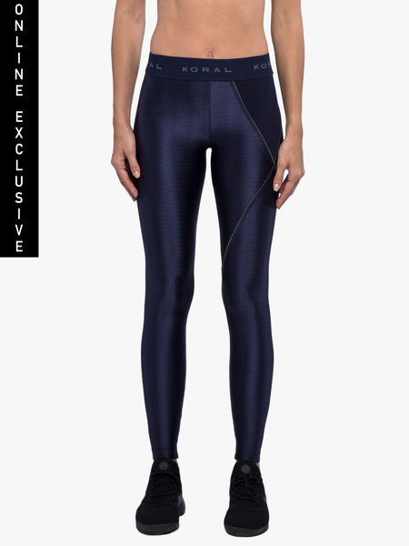 Attack Mid-Rise Charge Legging - Maritime Blue