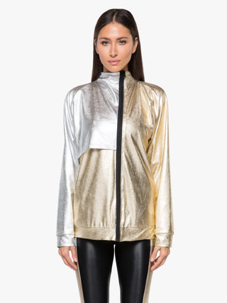 Aurum Chromoscope Jacket - Gold/Silver/Black