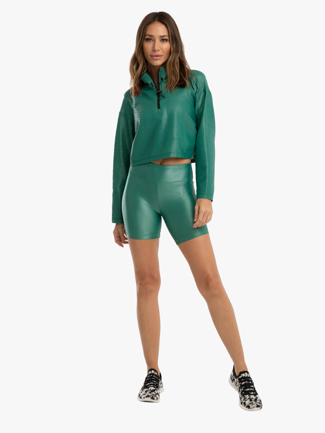 Slalom High Rise Infinity Shorts - Duffle Green