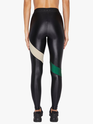 Aello Infinity Legging - Black/Dark Green/Caqui
