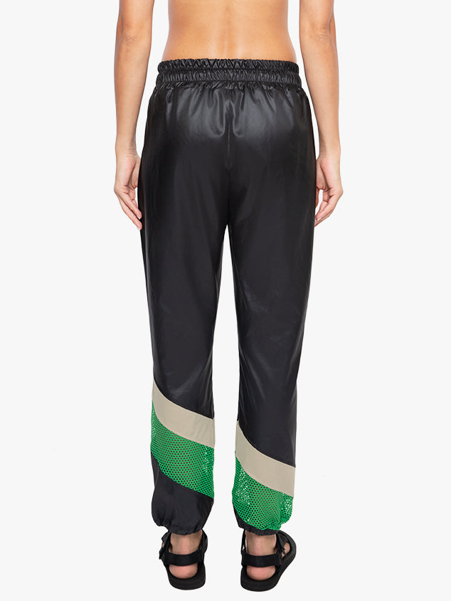 Adai Vento Cropped Cinched Pant - Black/Taupe/Verde