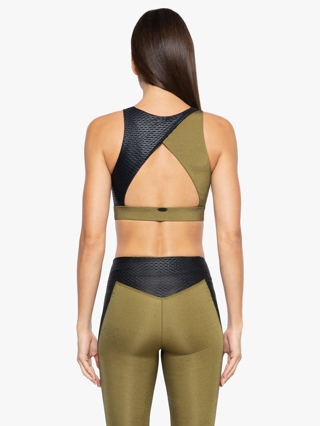 Covert Shantung Sports Bra