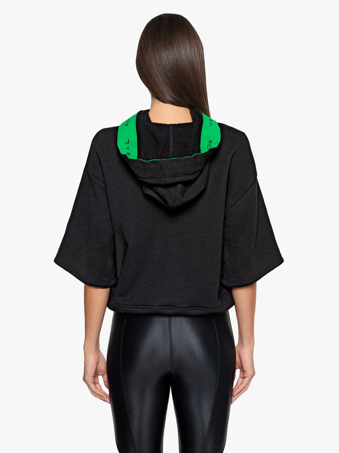 Savanna Matte Sweatshirt - Black/Verde