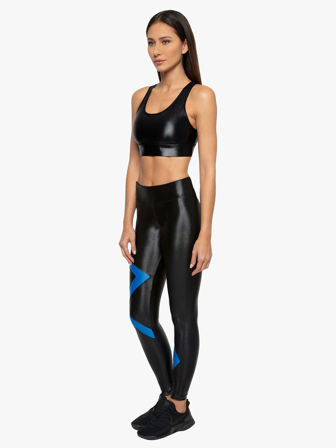Balance High Rise Infinity Legging - Black/Aura
