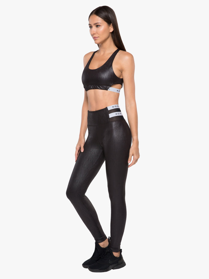 Set High Rise Obscure Legging - Black
