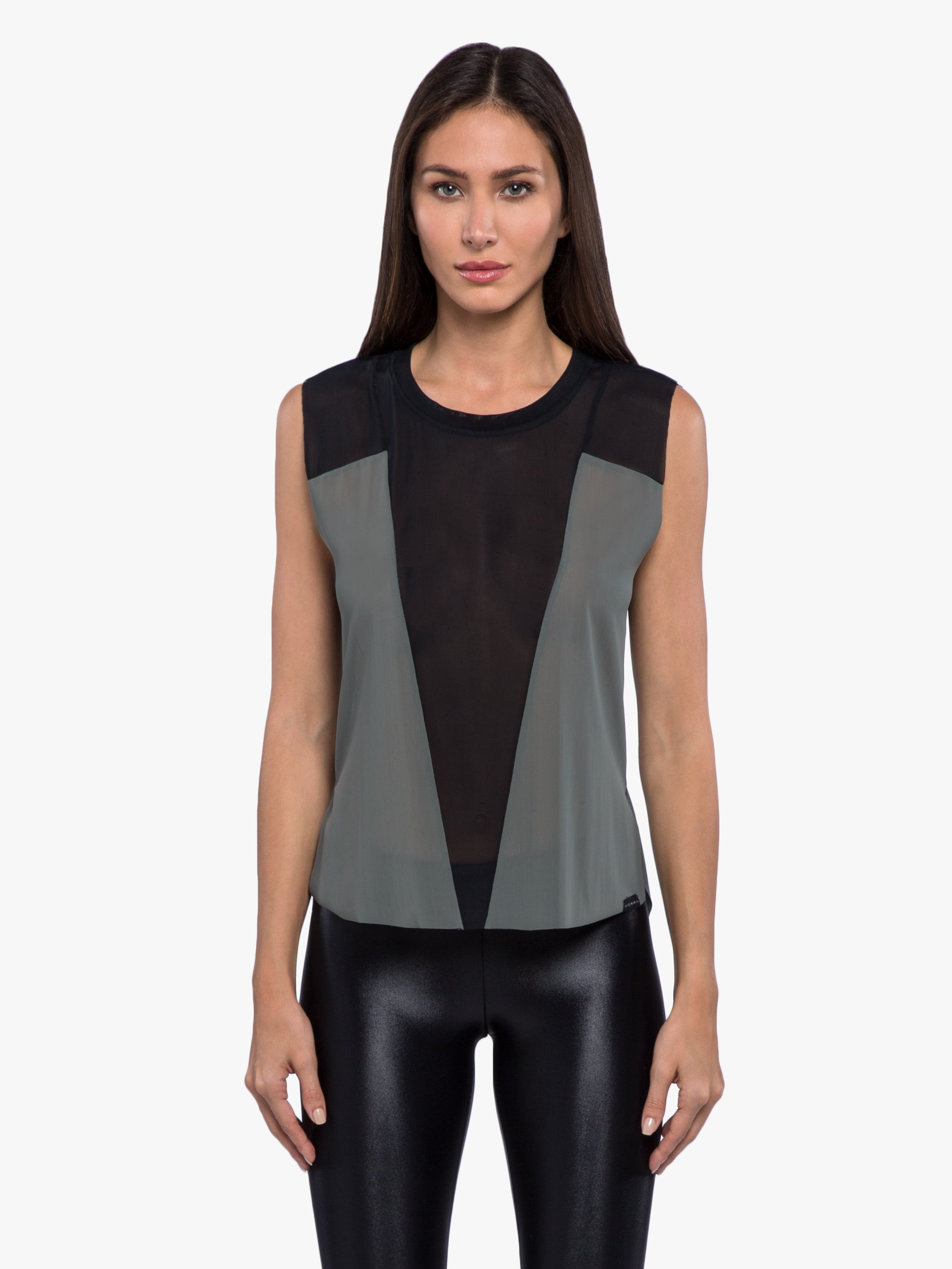 Brink Power Mesh Top - Black/Agave