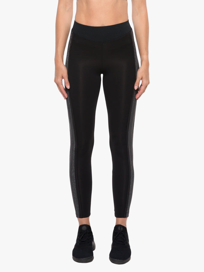 Byline High Rise Scuba Legging - Black/Silver