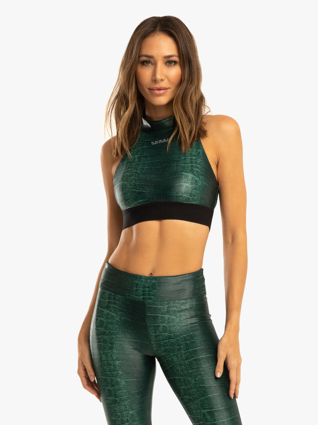 Boundless Sports Bra - Duffle Green Caiman