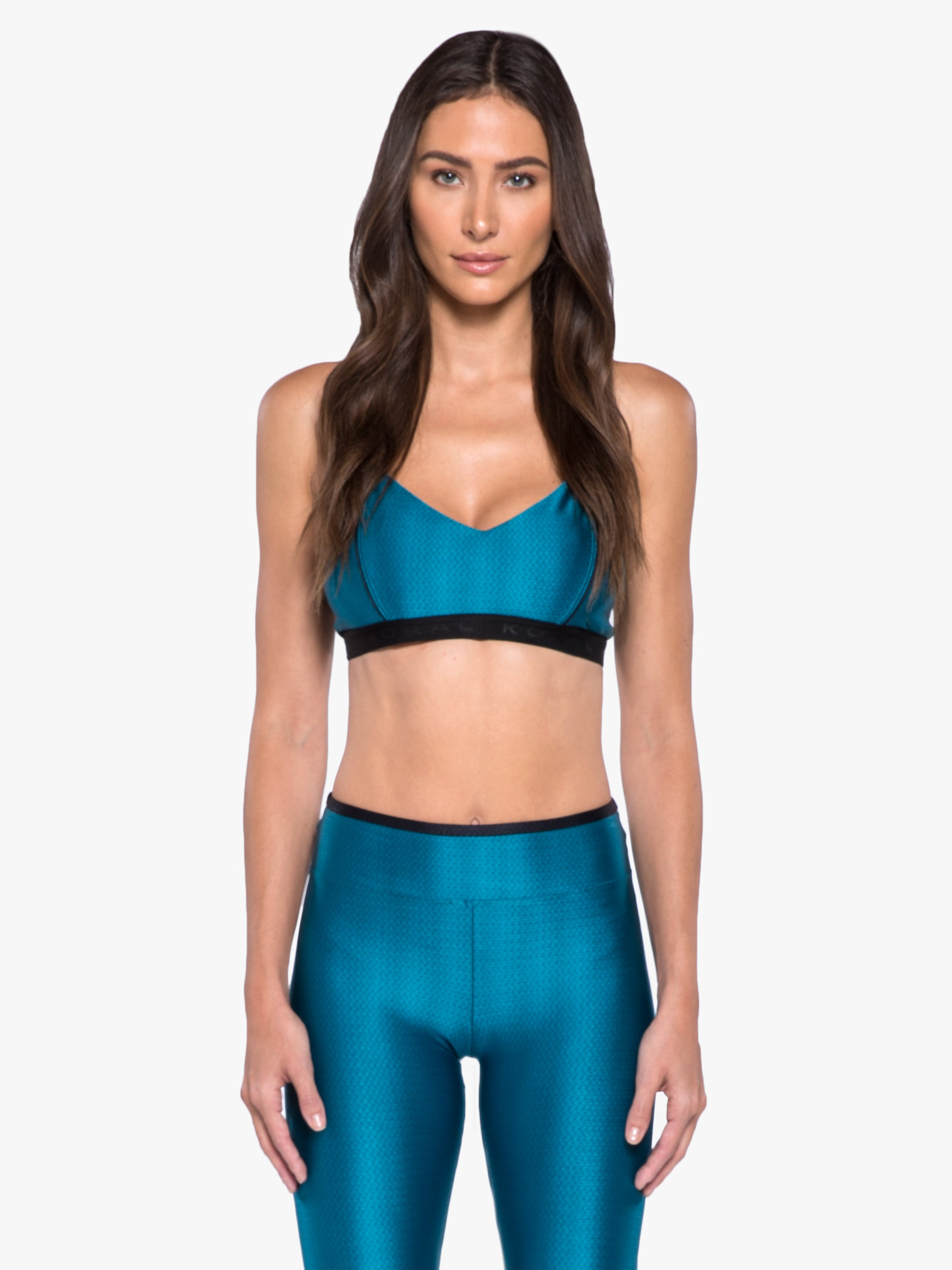 Cable Sports Bra - Calypso Teal