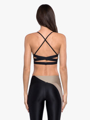 Catcher Sports Bra - Hummus/Black