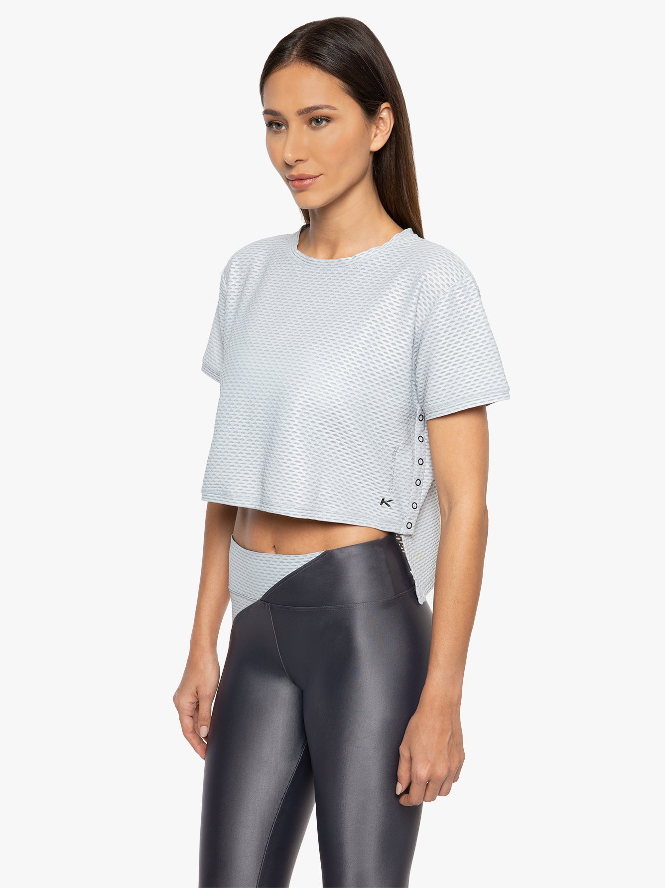 Cruppo Netz Crop Top - Agate