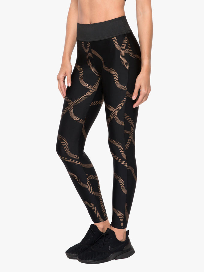 Dayton High Rise Impression Legging - Convolve Black