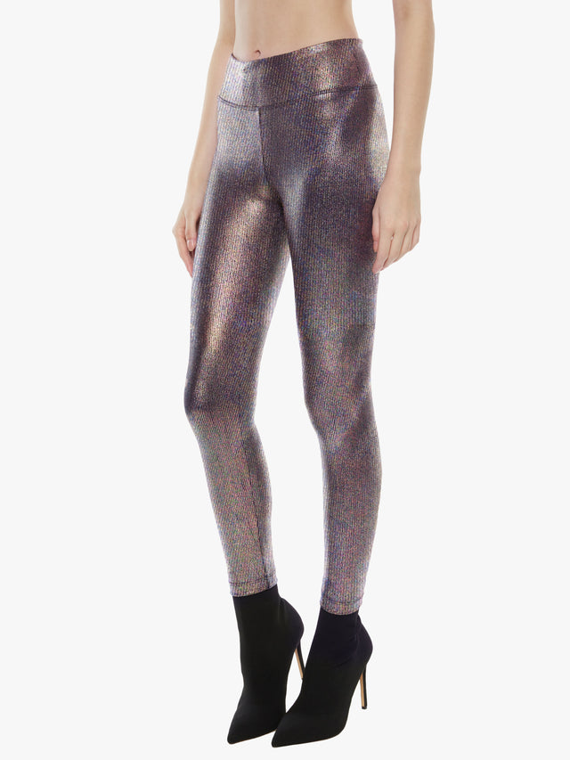 Drive High Rise Foil Rib Legging