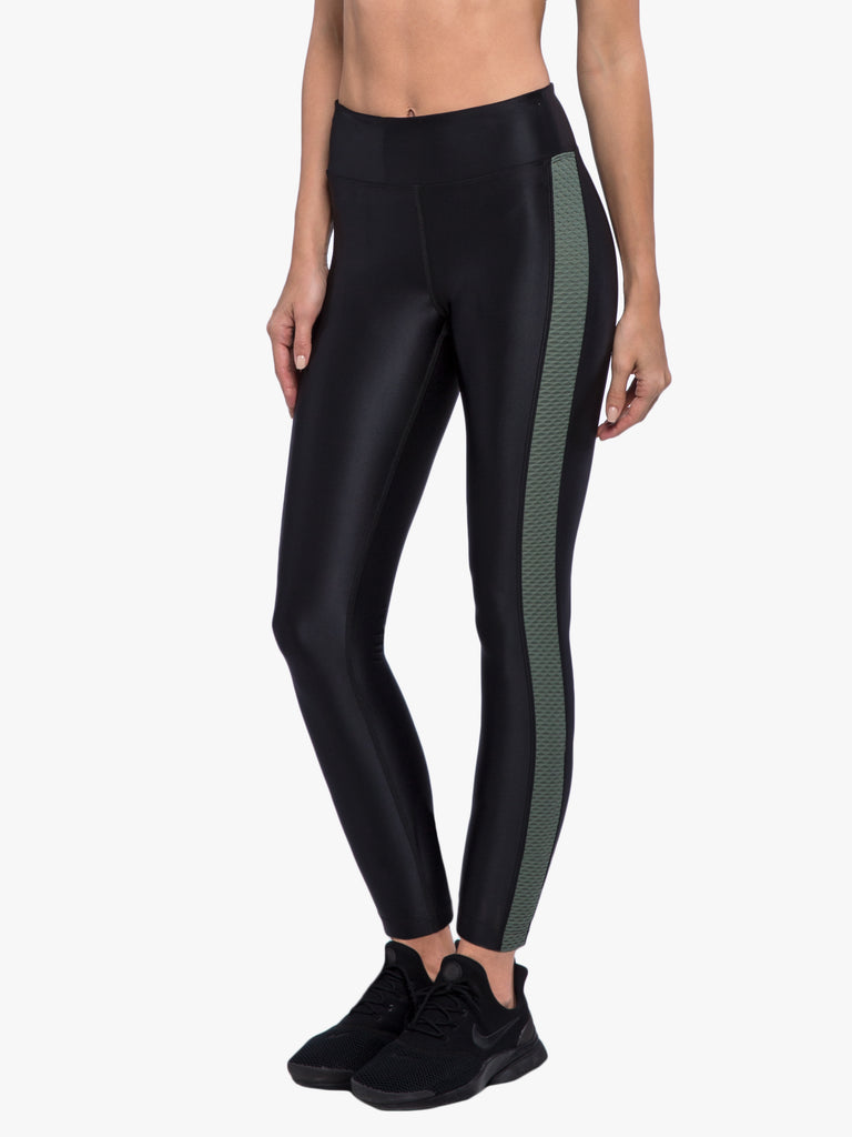 Dynamic Duo High Rise Energy Legging - Black/Agave