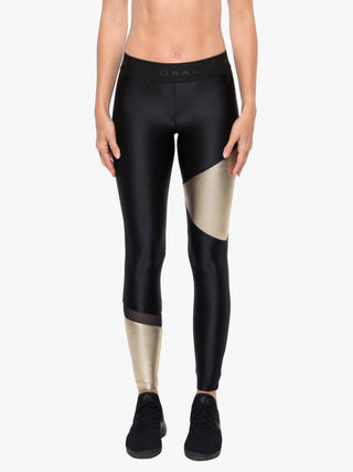 Glacier Mid-Rise Chromoscope Legging - Black/Gold