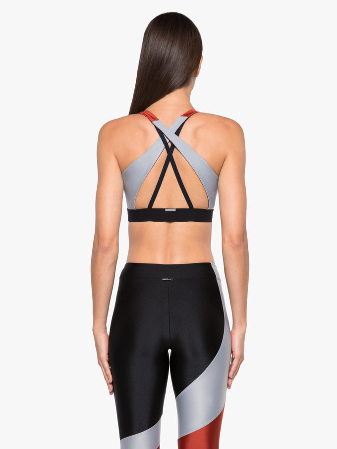 End Point Sprint Sports Bra - Rouge/Silver