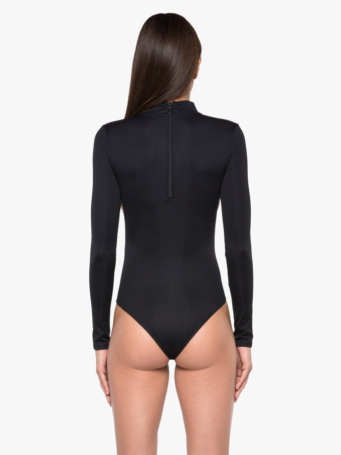 Aurora Ribbed Bodysuit - Black