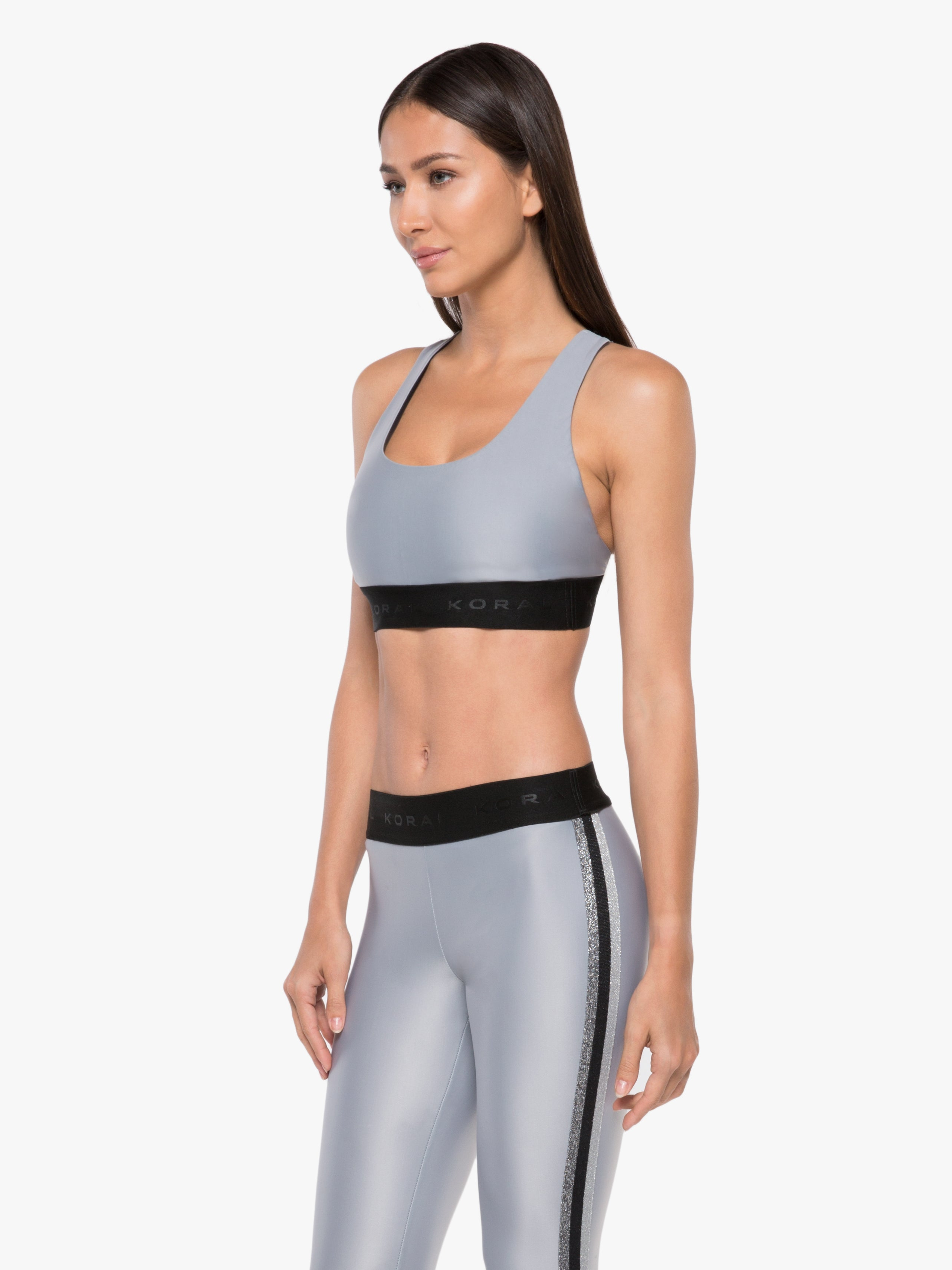 Fame Energy Sports Bra - Meteorite Grey