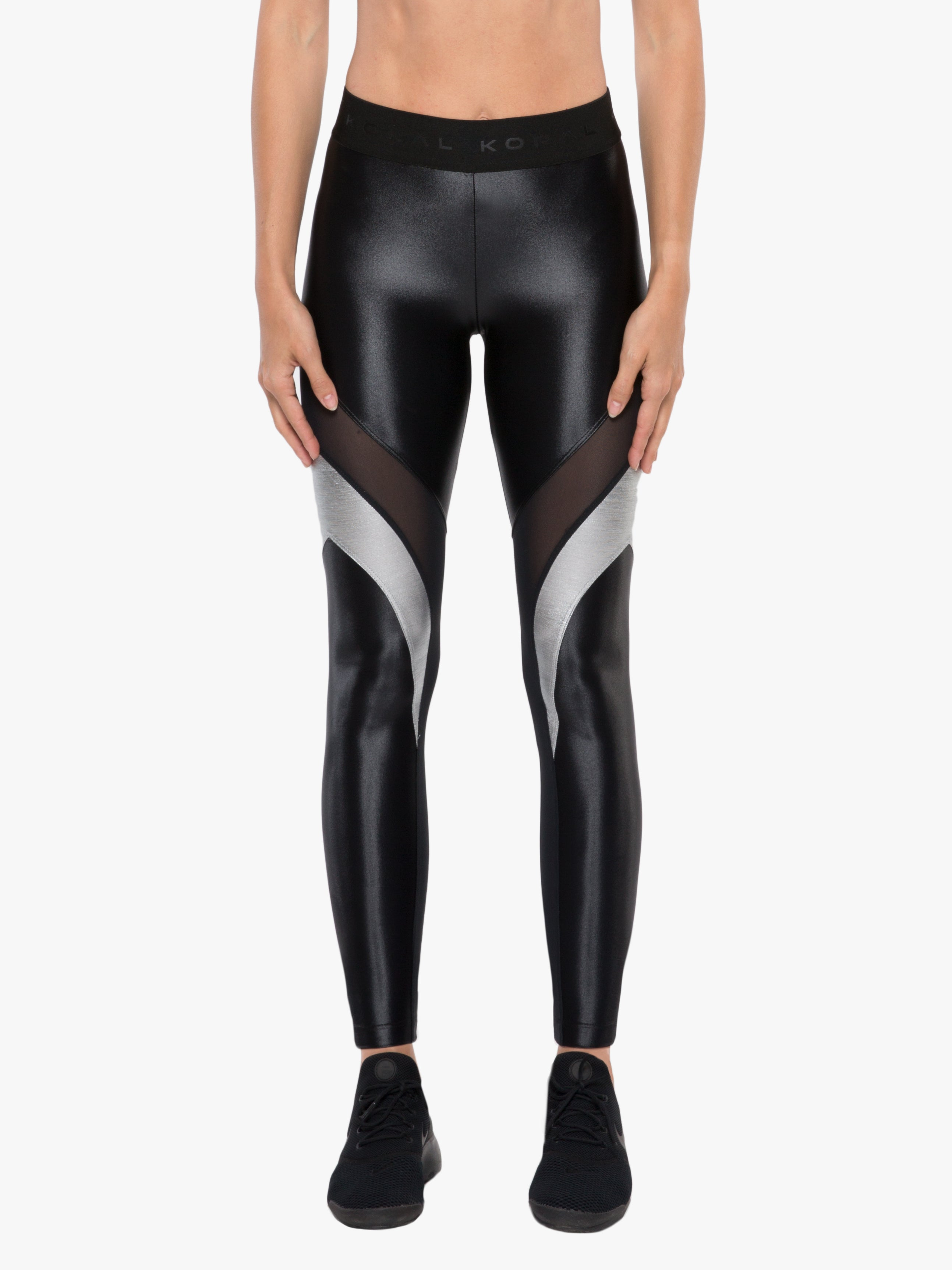 Frame High Rise Chromoscope Legging - Black/Silver