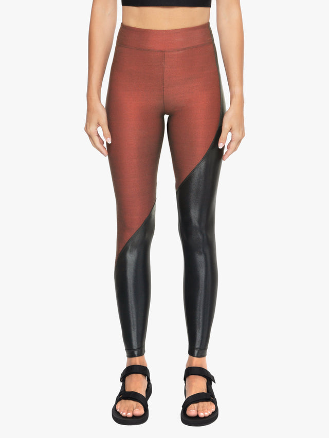 Toluca Shantung High Rise Legging