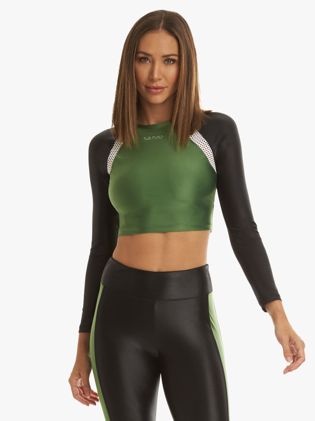 Sideline Energy Long Sleeve Crop Top