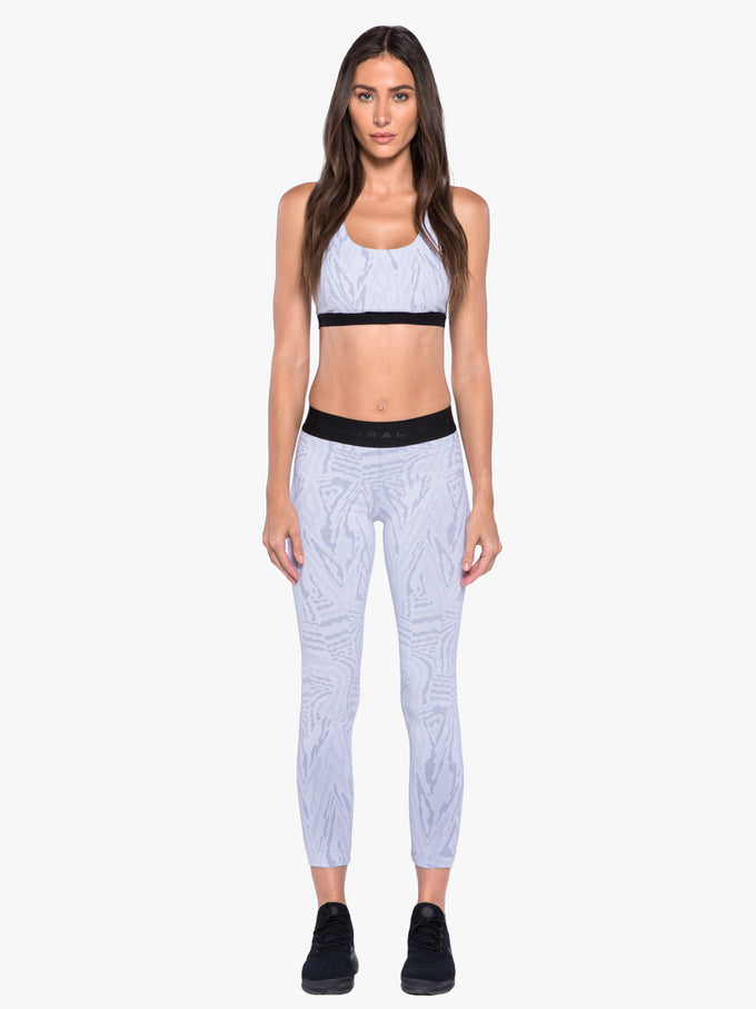 Tax Jacquard Galaxy Sports Bra - White