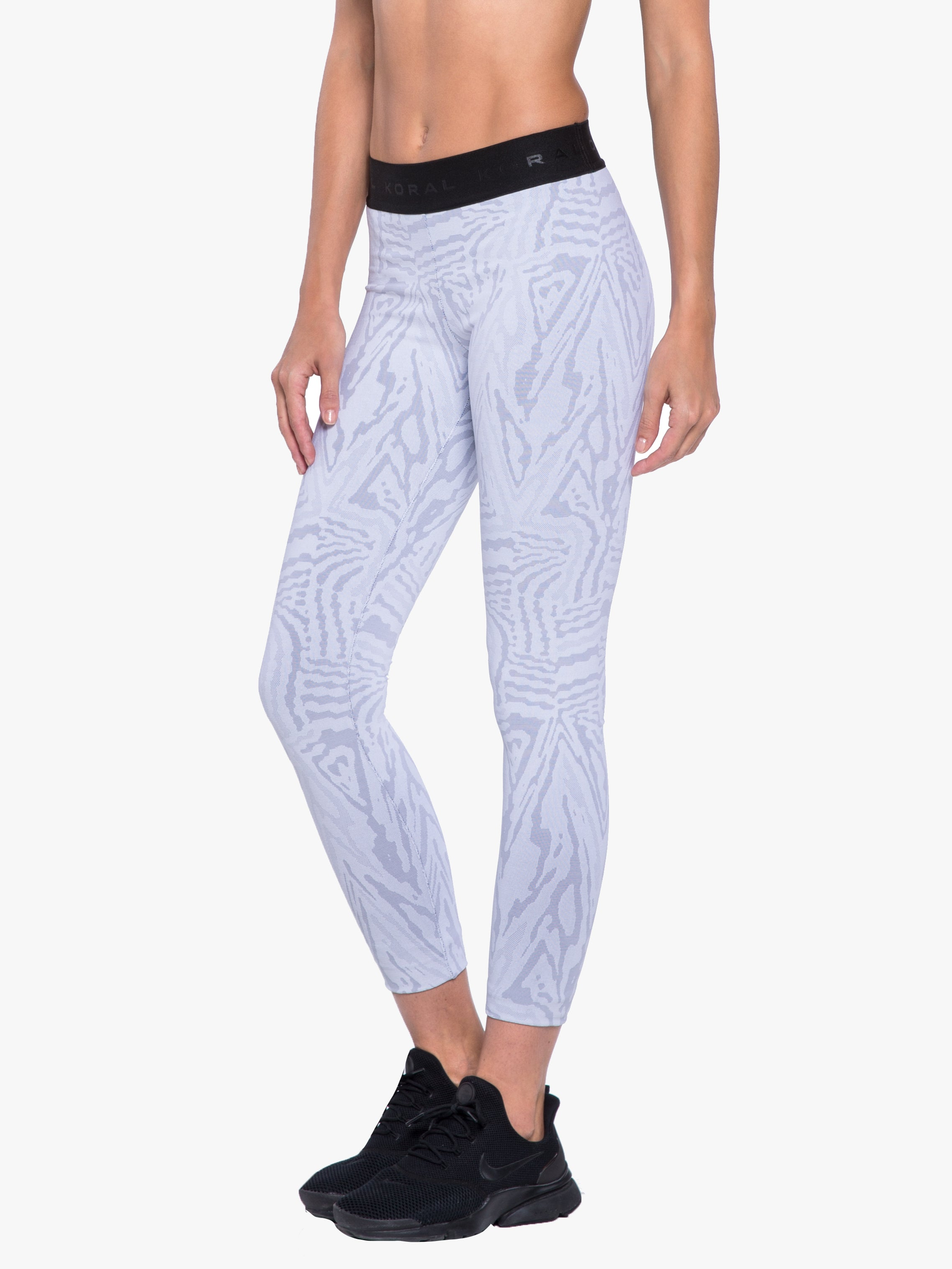 Knockout Jacquard Legging - White Galaxy