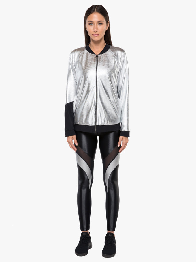 Gilded Chromoscope Jacket - Silver/Black