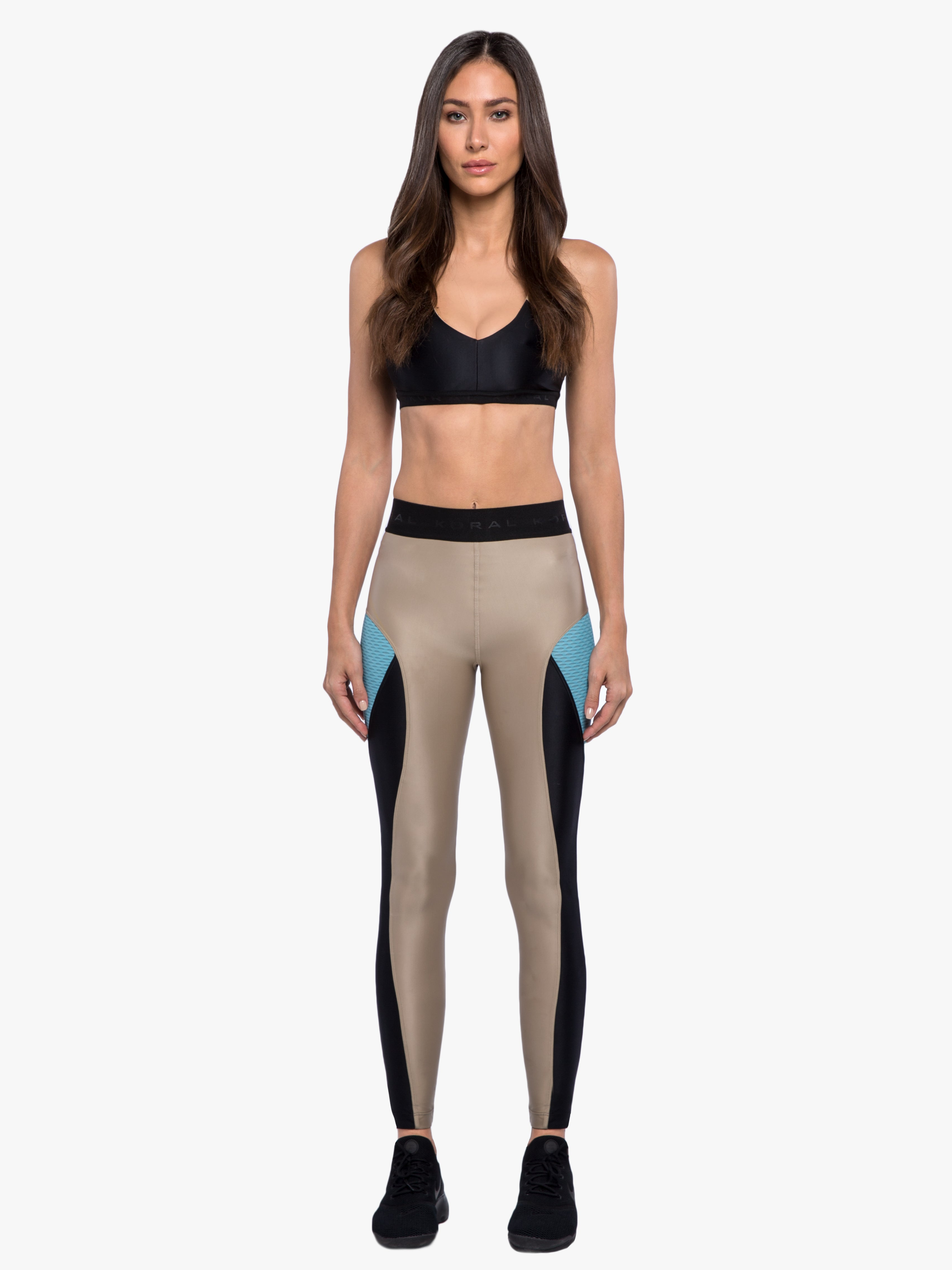 Haven Legging - Hummus/Black/Blue