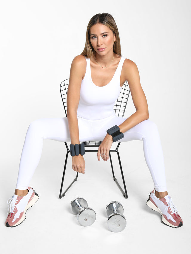 Jet Blackout Jumpsuit - White