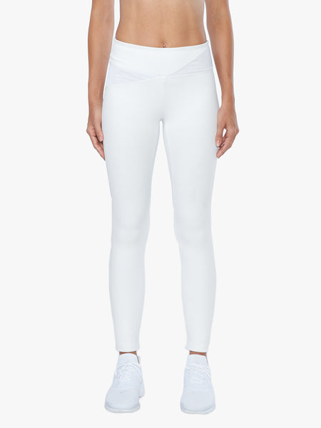 Flight Mid-Rise Net Jaquard Legging - White