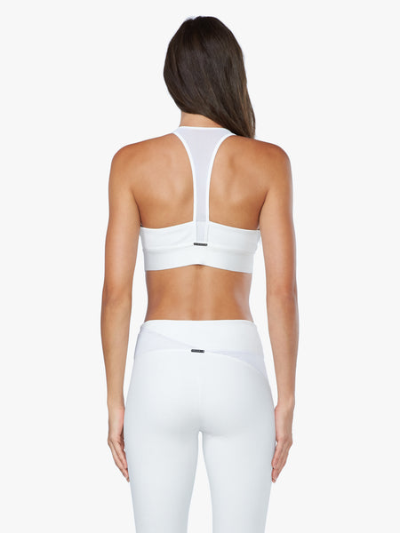 Loma Net Jaquard Sports Bra - White