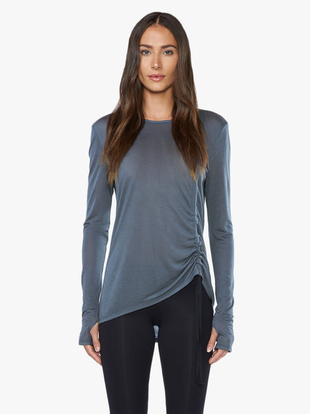Trade Tencel Jersey Long Sleeve Top - Ashen