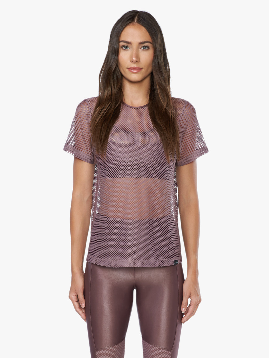 Size Up Open Mesh Tee - Marsala