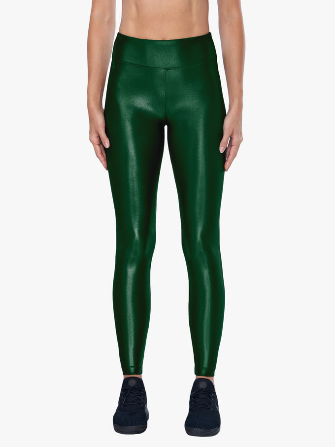 Lustrous High Rise Legging - Hunter Green