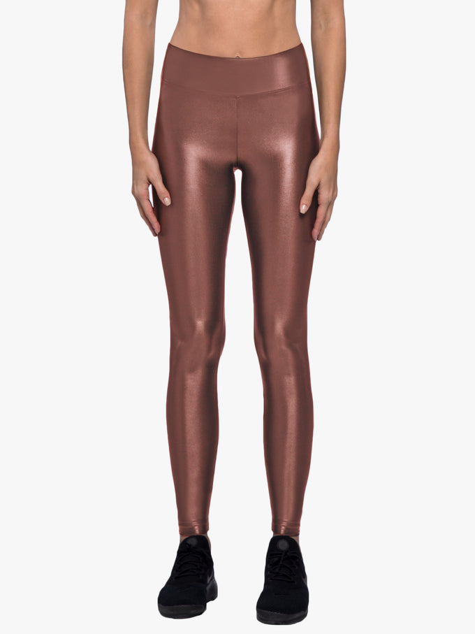 Lustrous High Rise Legging - Copper