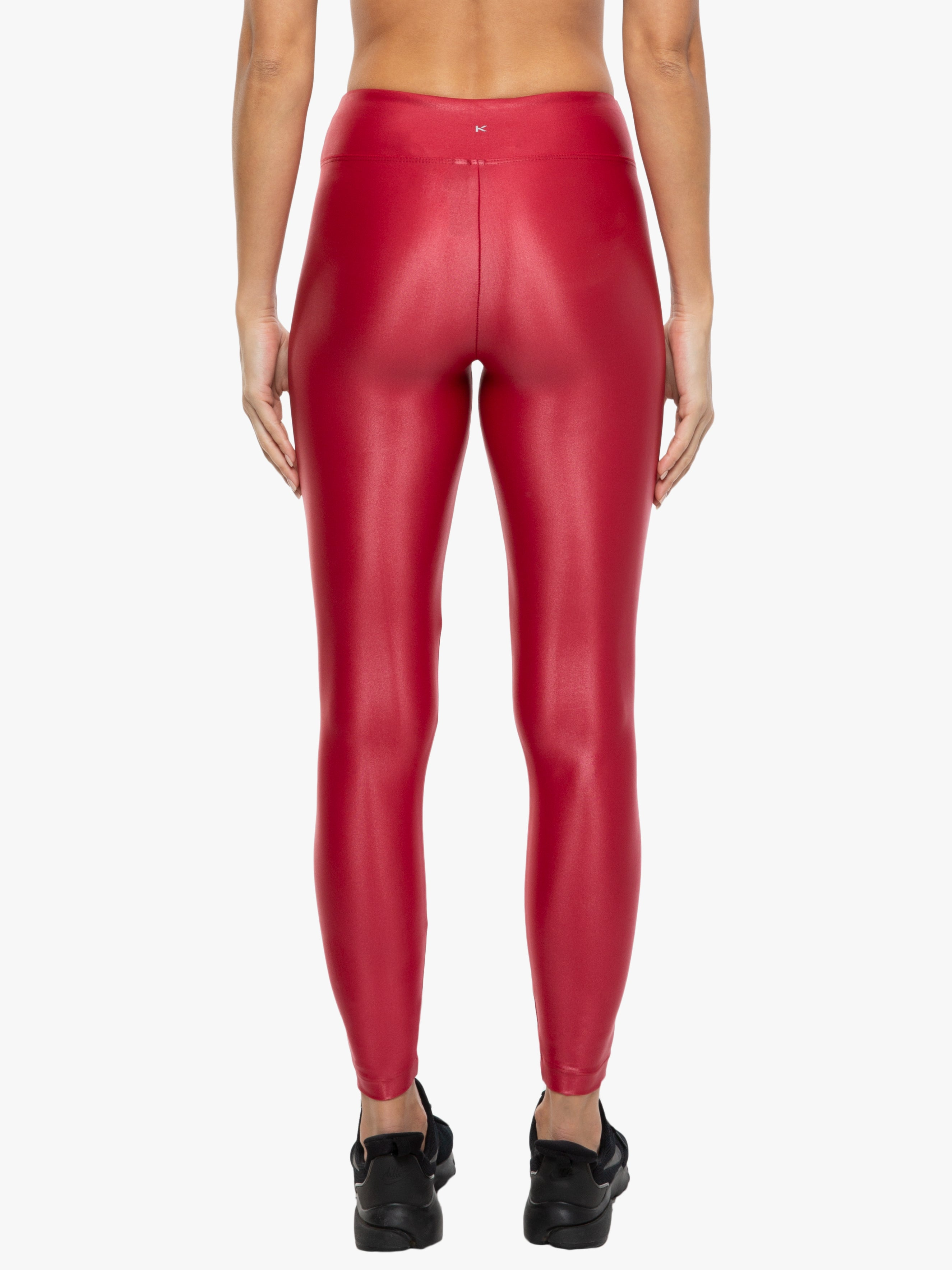 Lustrous High Rise Legging - Crimson