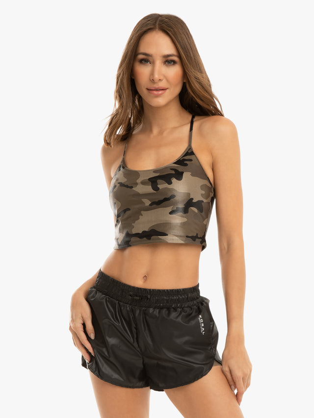 Leah Blackout Sports Bra - Camouflage