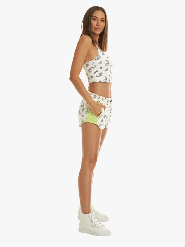 Power Dive Short - Bandana White