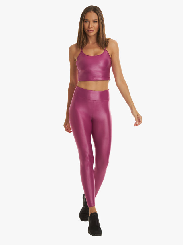 Lustrous High Rise Infinity Legging - Rose Orchid