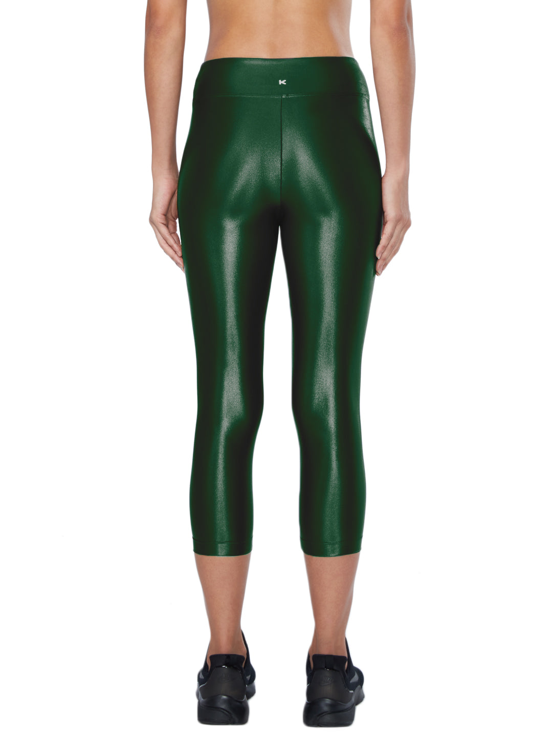 Lustrous High Rise Capri Legging - Hunter Green
