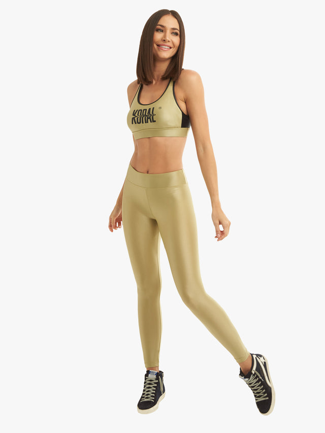 Lustrous High Rise Legging - Mission Olive