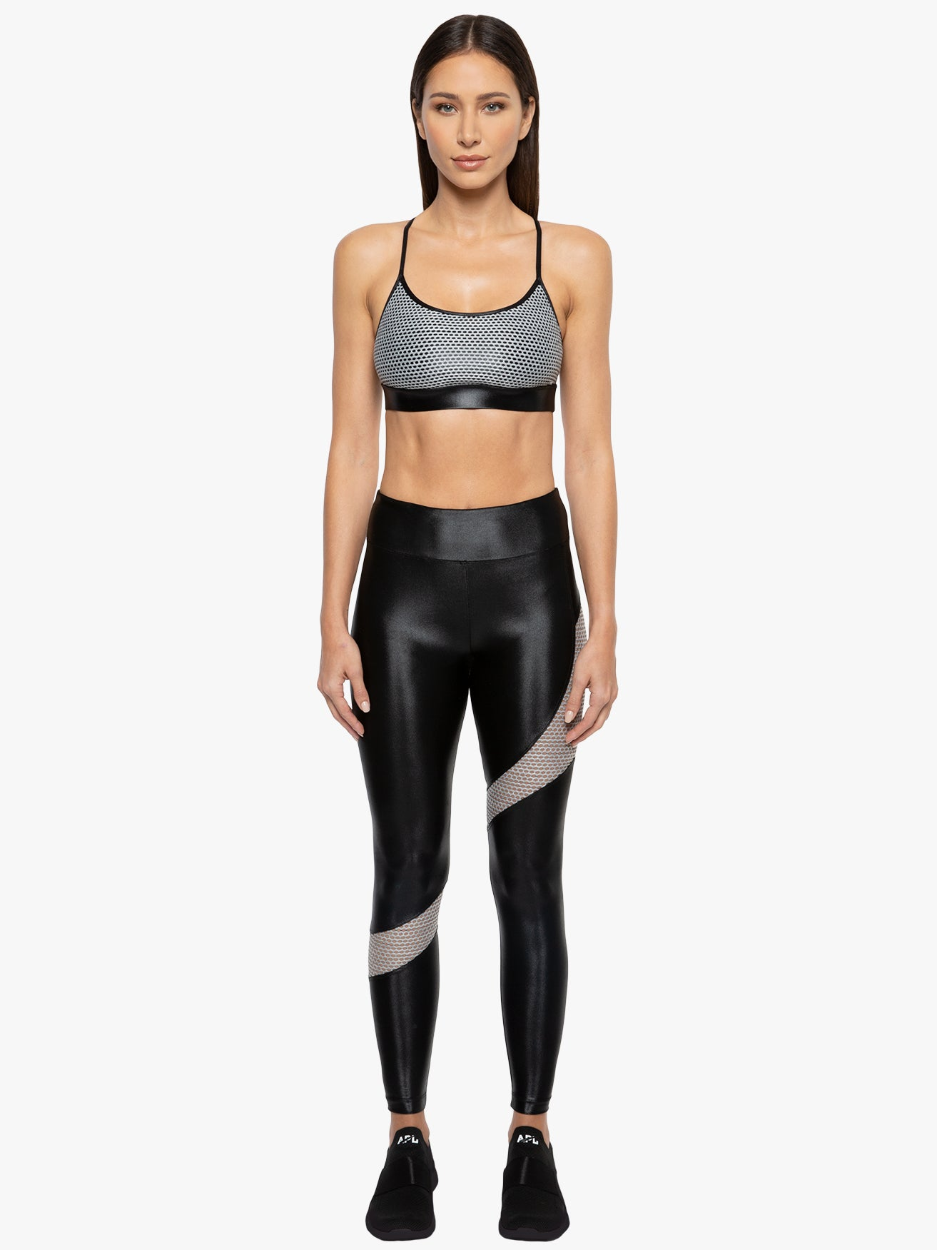 Marble High Rise Infinity Legging - Black/Agate