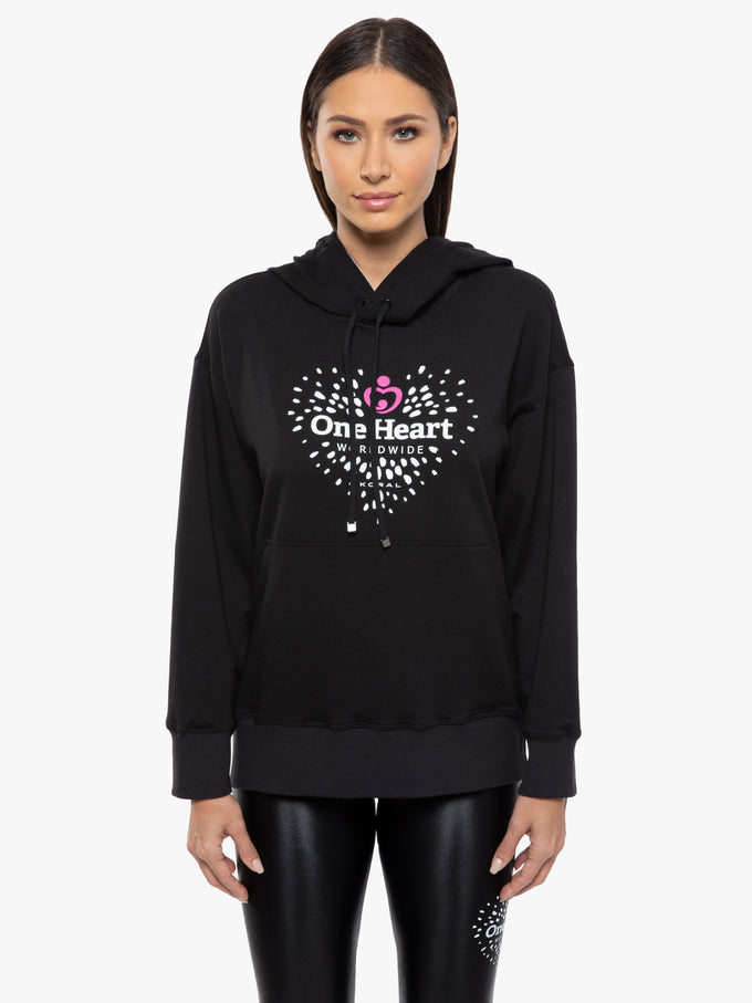 One Heart Spry Hoodie - Black
