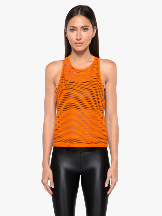 Optium Open Mesh Tank - Jasper Orange/Black