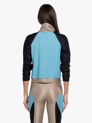 Pump Pullover - Hummus/Black/Blue